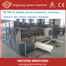 4 color flexo corrugated carton printing die cutting machine with stacker type in China