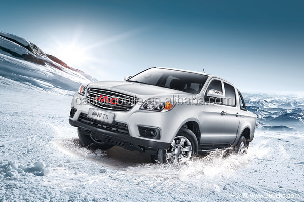 Chinese top brand JAC T6 double cabin pickup truck for sale