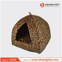 Leopard Comfortable Plush Pet Nest