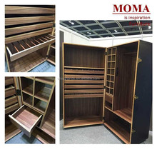 MA029R MoMA Furniture Latest Wooden Bedroom Dressing Wardrobe Cabinet Designs/Slide Open Chest Design