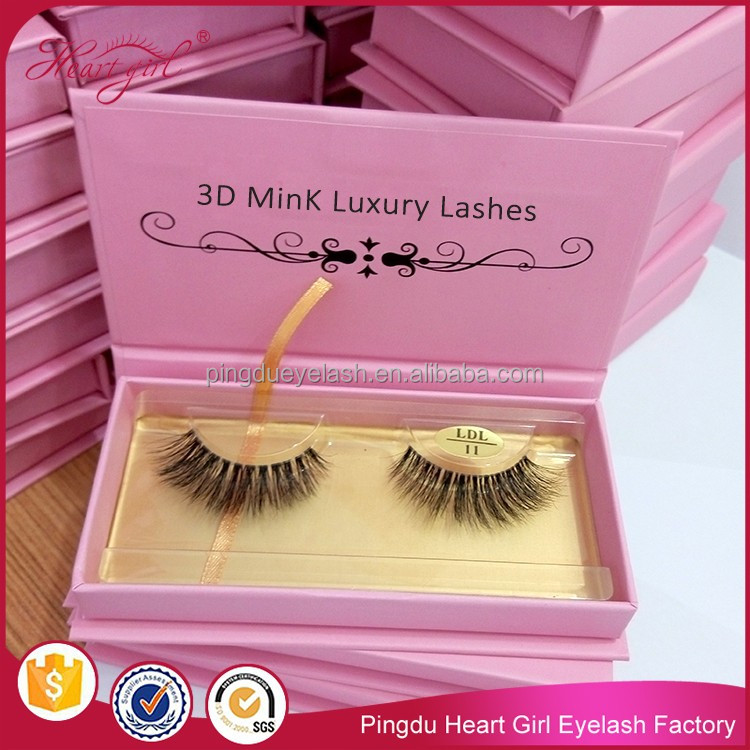 Premium 3D Mink Lash Private Label Strip False Eyelashes Wholesale 100% Real Mink Fur Handmade eye lash LDL11