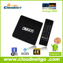 Very Popular Quad Core TV Box Amlogic S905 Quad-core 64-bit Smart Google TV Box with Android5.1