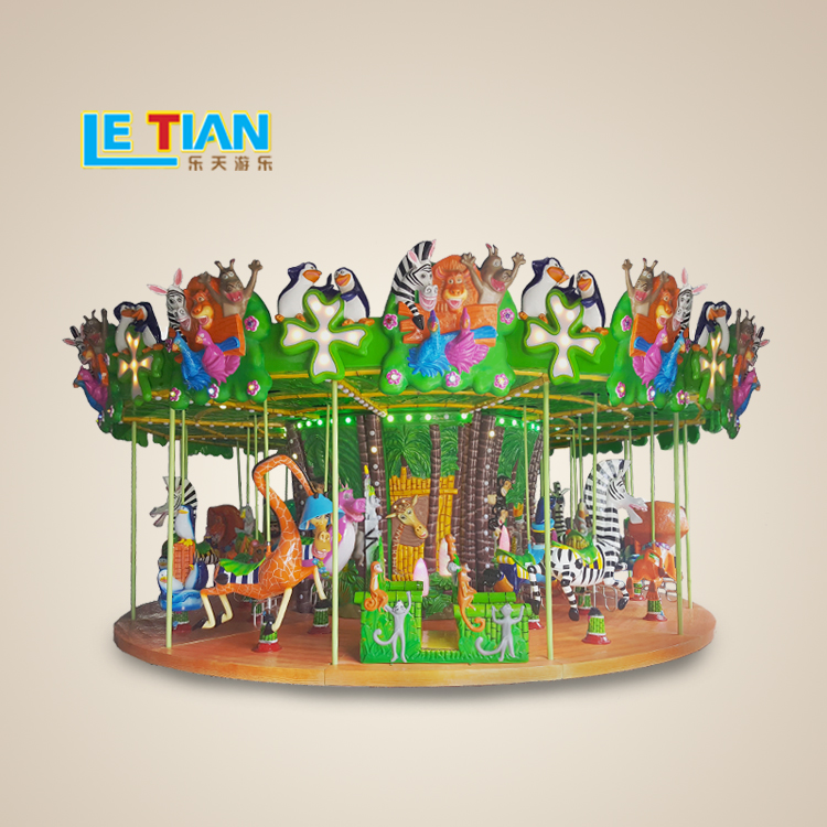 Hot sale Merry Go Round Amusement Park Equipment Madagascar Carousel Horses Ride for sale