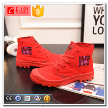Drop-shipping high top women shoes canvas made in china