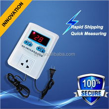 digital intelligent thermostat micro temperature controller with probe and universal socket outlet