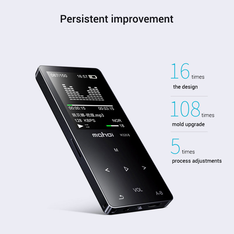 Mahdi M320 Hifi Lossless Music Bluetooth MP3 Player 1.8 TFT Screen 8GB Memory Multifunction MP3 Player Support FLAC ALAC Format (10)