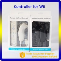 Factory Price Support OEM Logo Printing 2 in 1 Motion Plus Remote and Nunchuck Controller for Wii