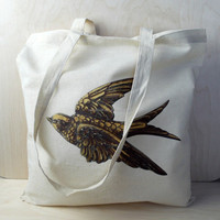 140 gsm natural calico cotton canvas shoulder bag