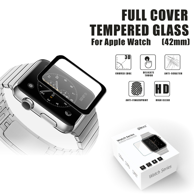 Trade assurance !! Ultra thin 0.33mm 9H milo tempered glass film screen protector for apple watch 38mm/42mm