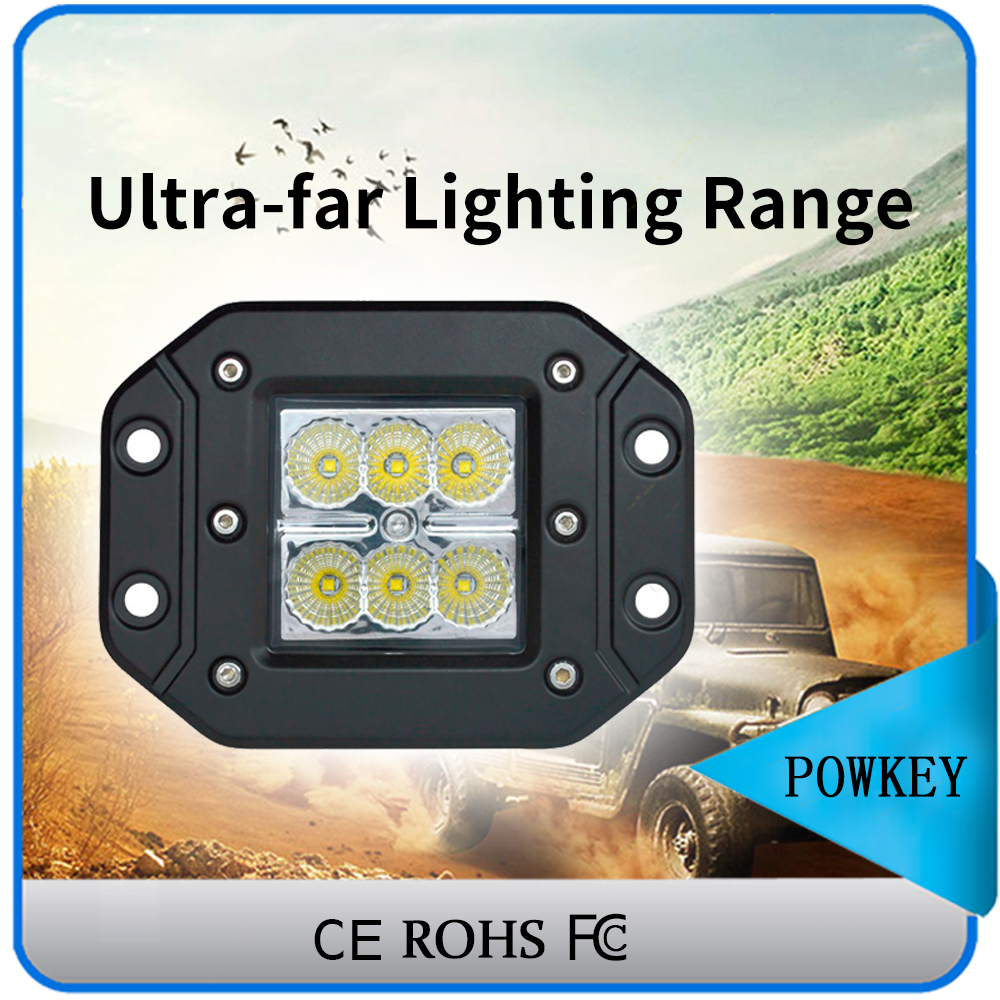 Good quality 12V 24V led truck work lights Offroad led work light 18W auto led work lights for SUV 4WD auto part