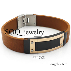 Brown Italian Real Leather Bracelet for Men leather bracelet