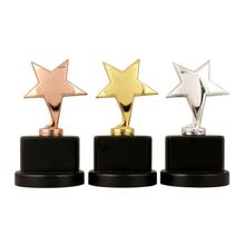 New products attractive style ready stocks star shaped cheap metal trophy