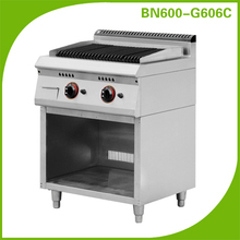 Kitchen equipment gas lava rock grill with cabinet BN600-G606C