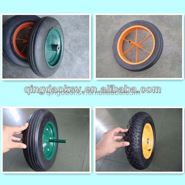 Solid rubber spoke wheels 14 inch