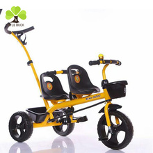 Wholesale new model baby car seat double cheap children tricycle two seat good price tricycle children baby
