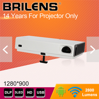 2019 hot products android system high brightness high lumens 3 led mini hd projector