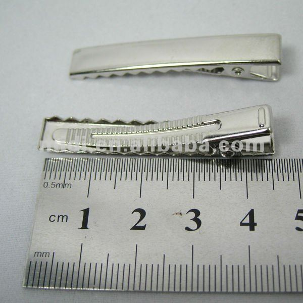 4.5cm/5.5cm/6cm/8cm rectangle metal hair clip