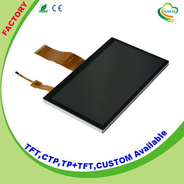 7 capacitive touch panel tft lcd 800*480 dots for Medical device