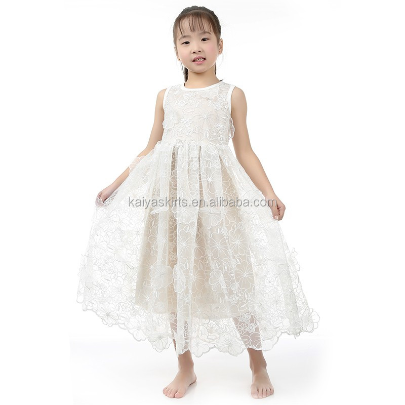 Lace Flower Girls Dress Rustic Girls Birthday Tulle Dress White Organza Flower Dresses