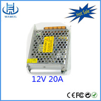 240W enclosed swithcing power supply 12v 20a for led light