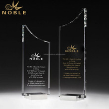 Trophy Custom Crystal Plaque with Metal Base