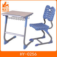 Novel design hot sale high school study desk with chair