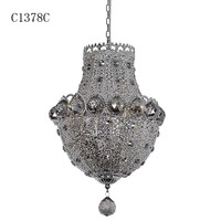 C1378C glass bubble chandelier, rattan lamp, led jump rope