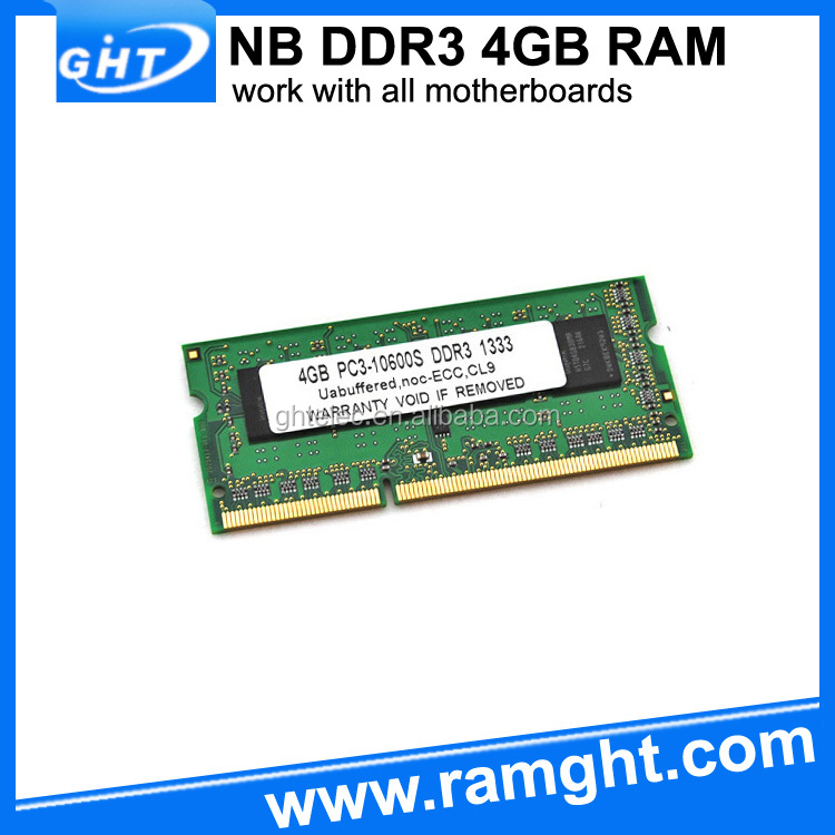 full tested CE FCC RoHS ddr 3 ram 4 gb for laptop
