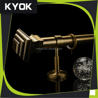 KYOK wide varieties metal roman pole/rod, 10 Years Iron Curtain Rod Finals & Curtain Accessories Manufacturer in China