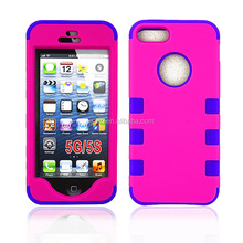 Newest design Hard PC and Silicone combo case for smart iPhone 5G 5S