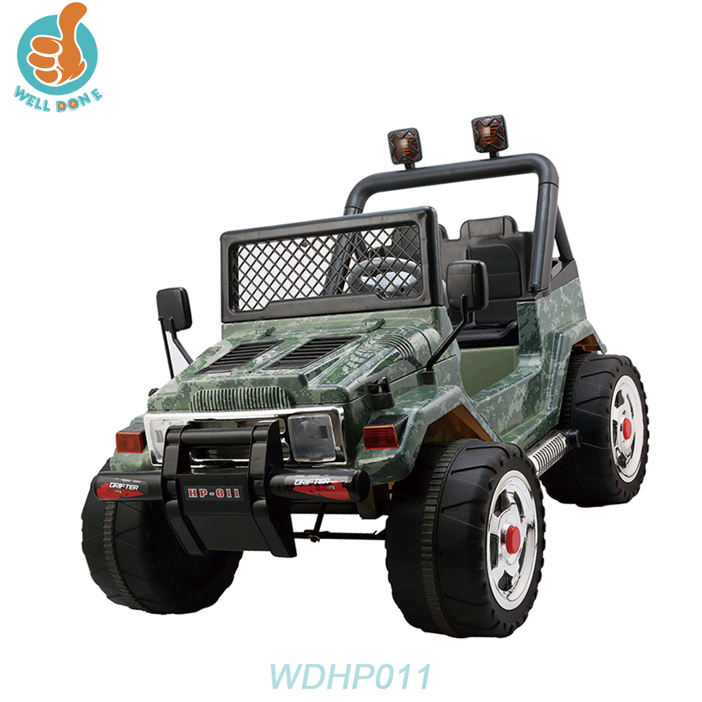 WDHP011 Outdoor Cool 4ch Kids Electric Ride On Toys Jantes Aluminium Car