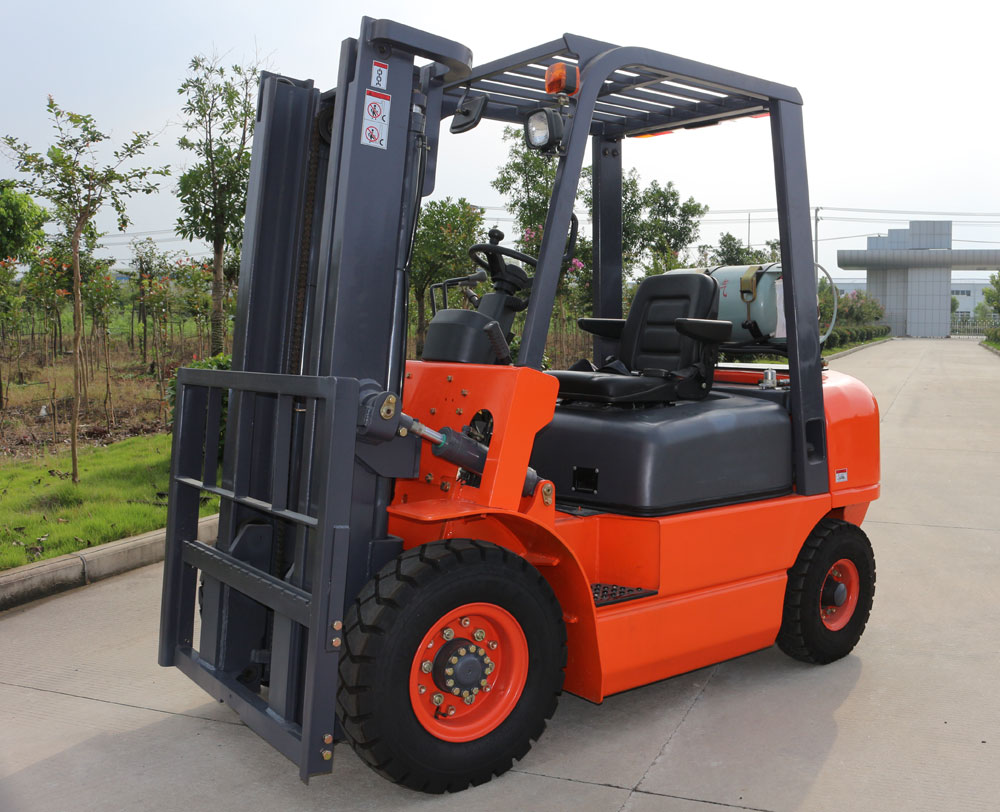2 ton LPG Gasoline forklift with 3m full free mast with side shift with dual fuel with LPG cylinder