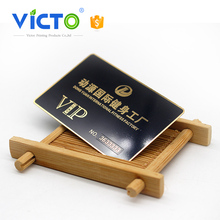 Best price black matte plate stands metal cards for promotion