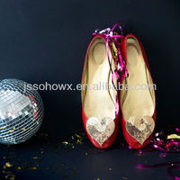 2013 New Sequins Heart Shoe Clips