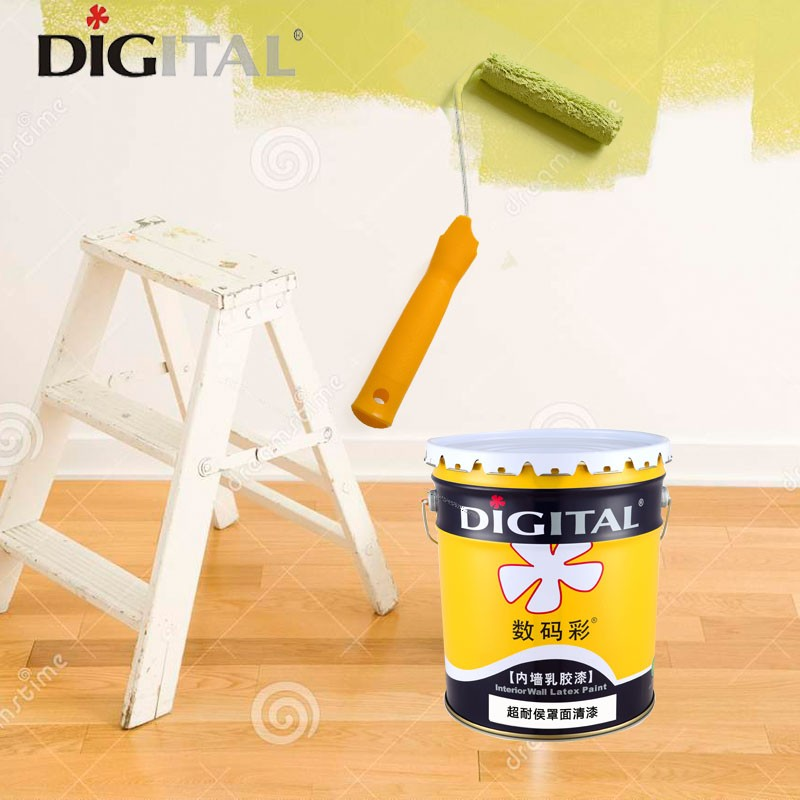 Self-clean waterproof exterior wall paint for building