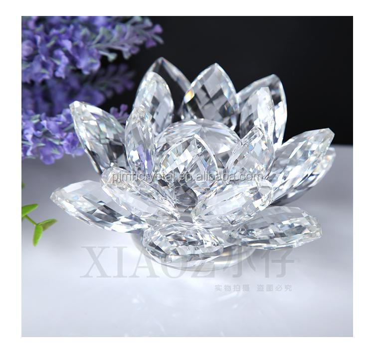 wedding souvenirs colorful crystal glass lotus flower MH-H0012