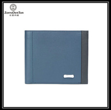 2016 new design business style leather wallet with RFID blocking function
