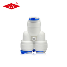 K702 plastic Y tee pipe fitting with 3 1/4'' tube size