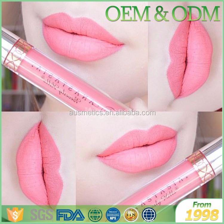 Sous étiquette privée de nombreux couleur étanche cosmétiques mat liquide de mode couleur rouge à lèvres