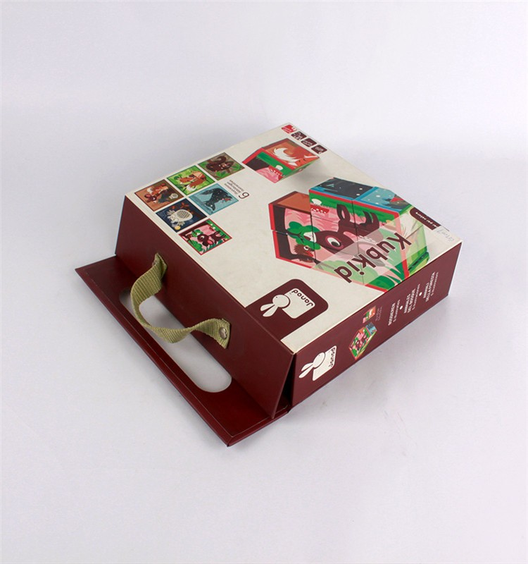 Customized design art paper+white corrugated packaging box for toy