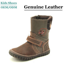 hot sale fashion boy black cow leather kids boots
