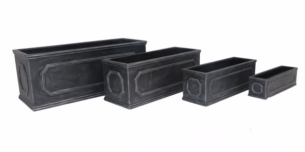 Chelsea style lead effect faux lead garden planter troughs for inside and outside planting