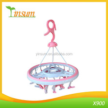 Round Drip Hanger Plastic Folding Clothes Drying Rack