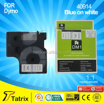 Top 3 manufaturer 9mm blue on white compatible label tape 40914 for RHINO 4200 label machine