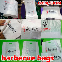 eco-friendly HDPE plastic BARBECUE bags (SGS certificated)