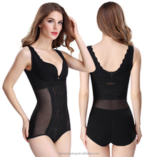 shapewear with open crotch lingerie Corset Mesh BodySuit/spandex lycra full body suit for women YP3712