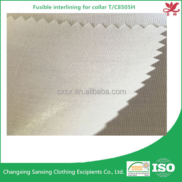 LDPE coating fusible interlining for collar T/C8505H accessories for collar
