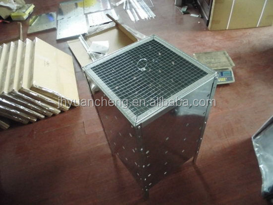New stylish galvanized steel garden incinerator