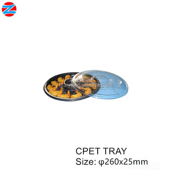 CPET tray with lid