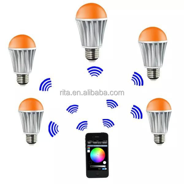 E27 WIFI RGB+Warm White LED <strong>Bulb</strong>;Dimmable Multicolored Color Changing WiFi LED <strong>Bulb</strong>